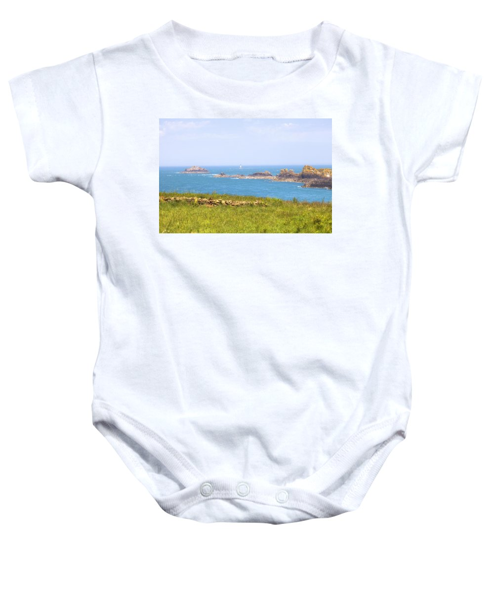Pointe Du Grouin Baby Onesie featuring the photograph Pointe Du Grouin - Brittany by Joana Kruse