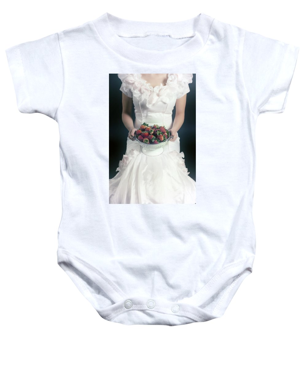 Woman Baby Onesie featuring the photograph Strawberries by Joana Kruse
