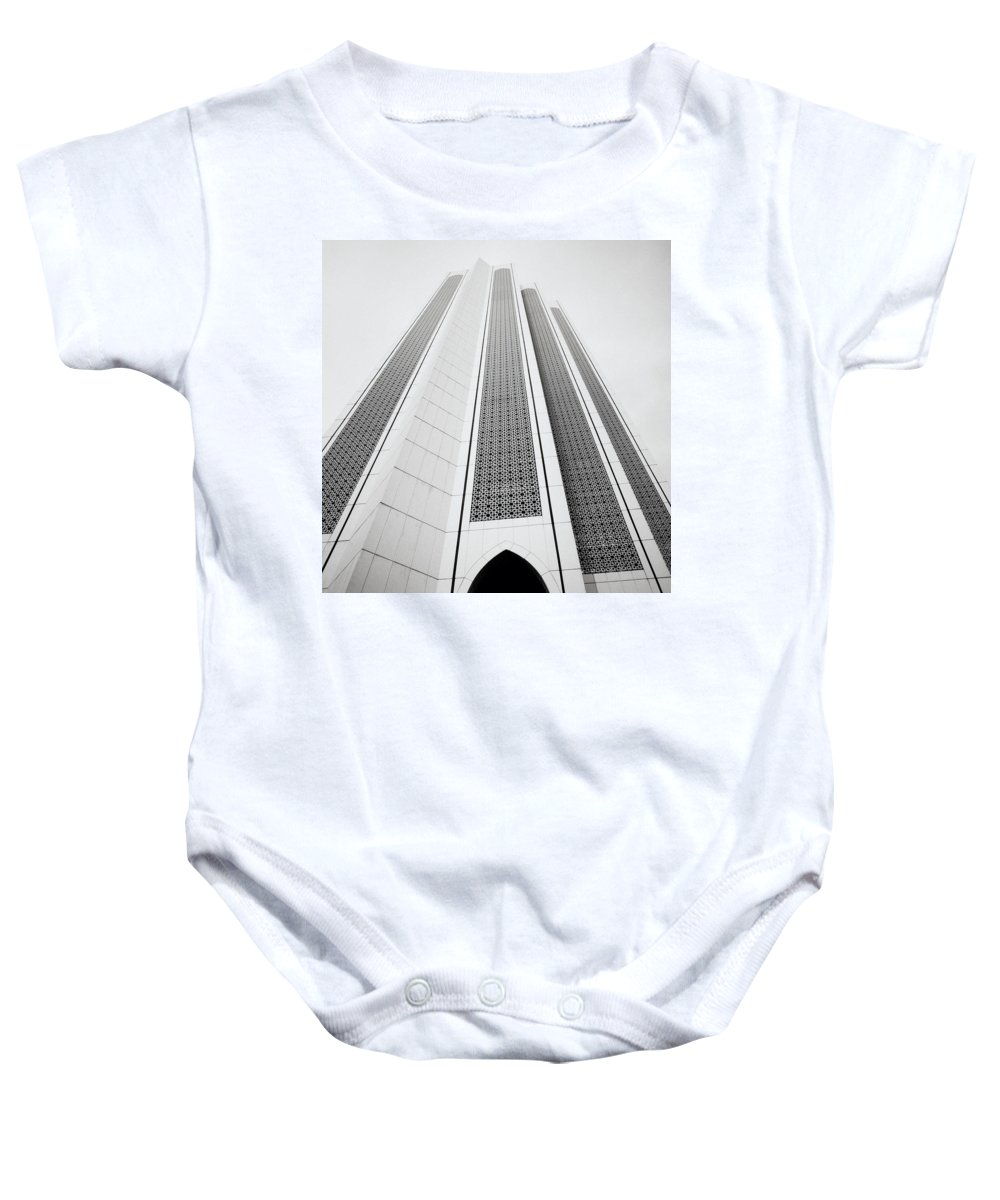 Asia Baby Onesie featuring the photograph The Dayabumi Complex by Shaun Higson