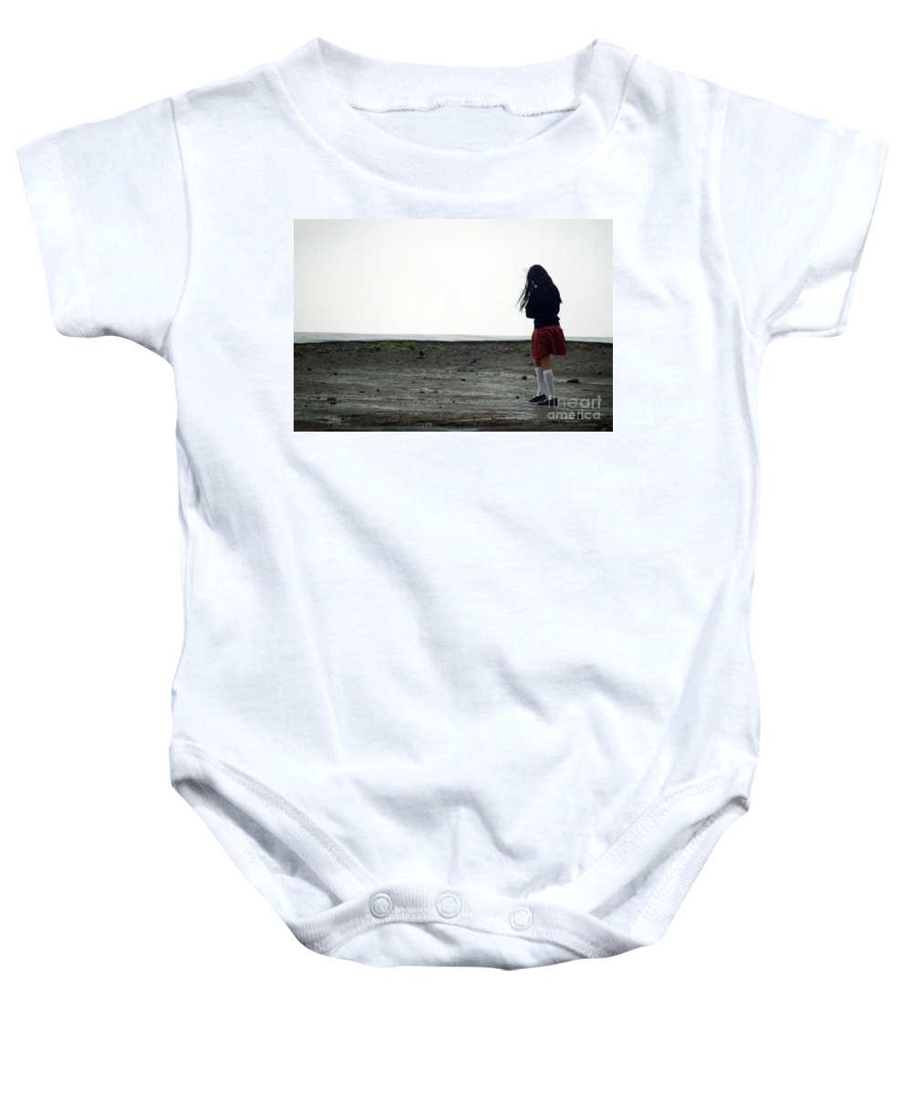 B W Baby Onesie featuring the photograph Walk Alone by Dattaram Gawade