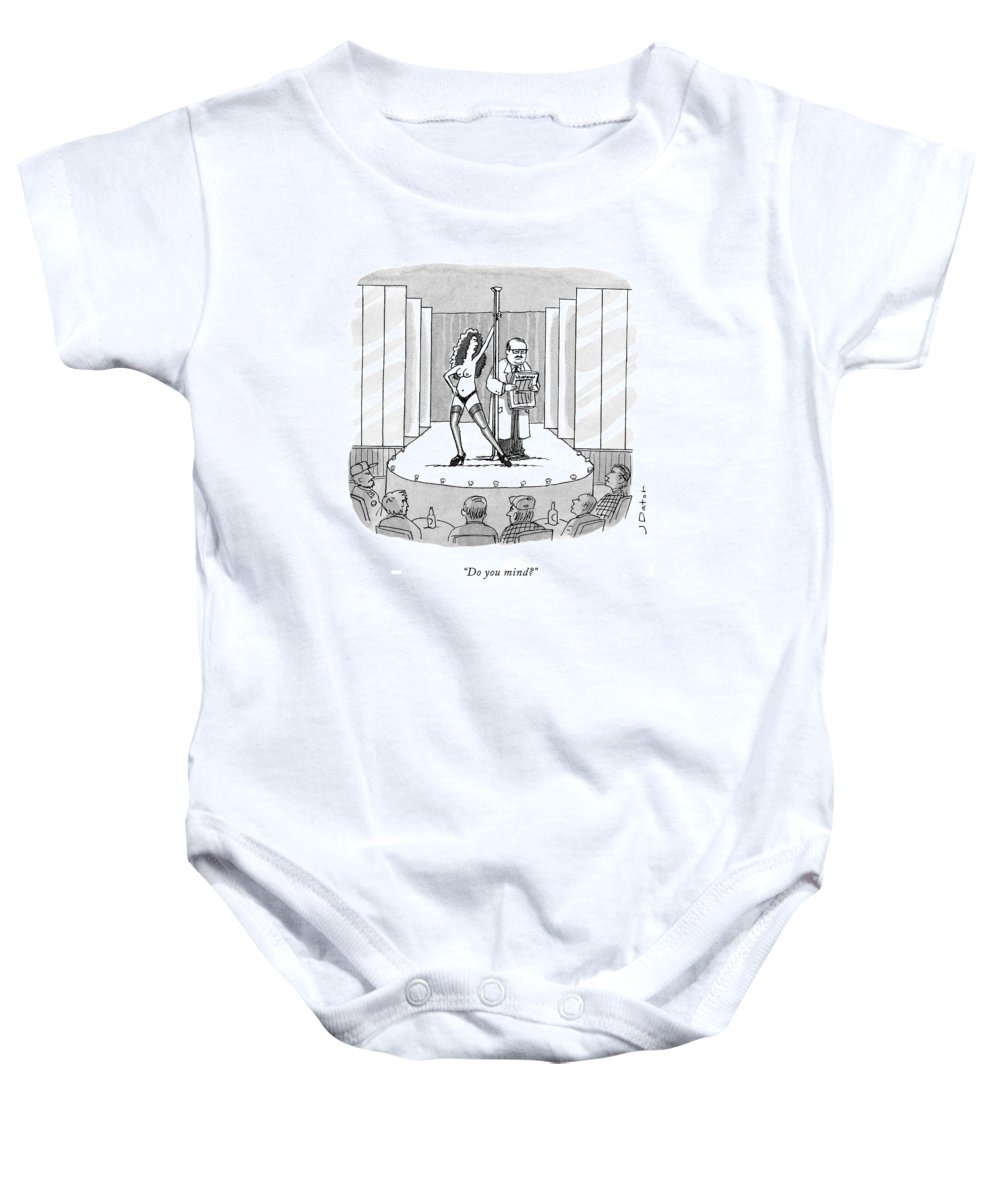 Do You Mind? Baby Onesie featuring the drawing Do You Mind? by Joe Dator