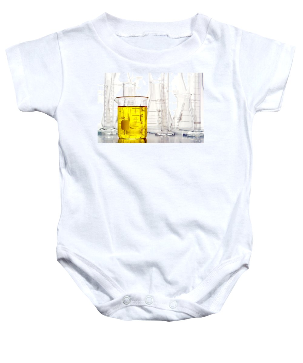 Lab Baby Onesie featuring the photograph Laboratory Equipment In Science Research Lab by Science Research Lab By Olivier Le Queinec