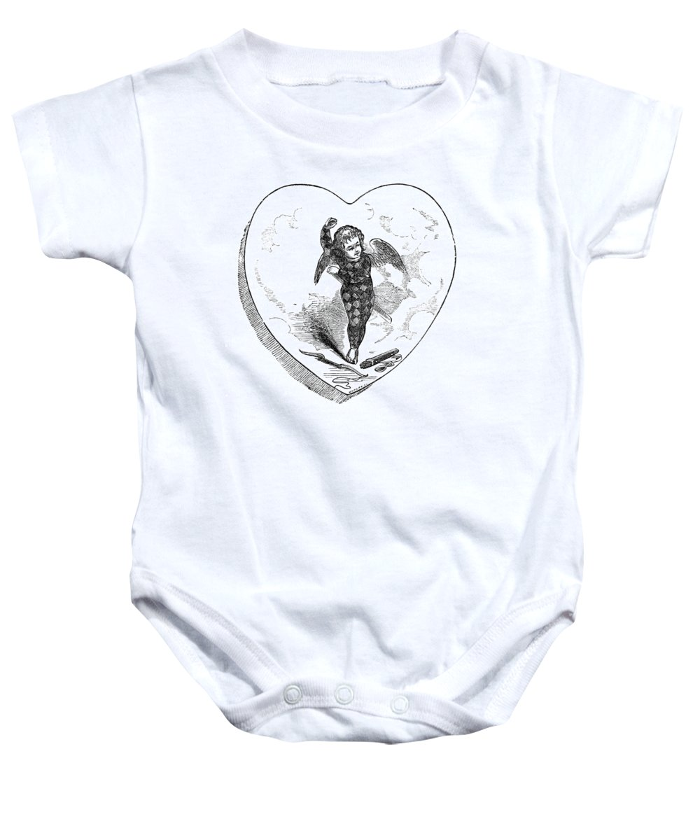 Holiday Baby Onesie featuring the photograph Love Lyrics And Valentine Verses, 1875 by British Library