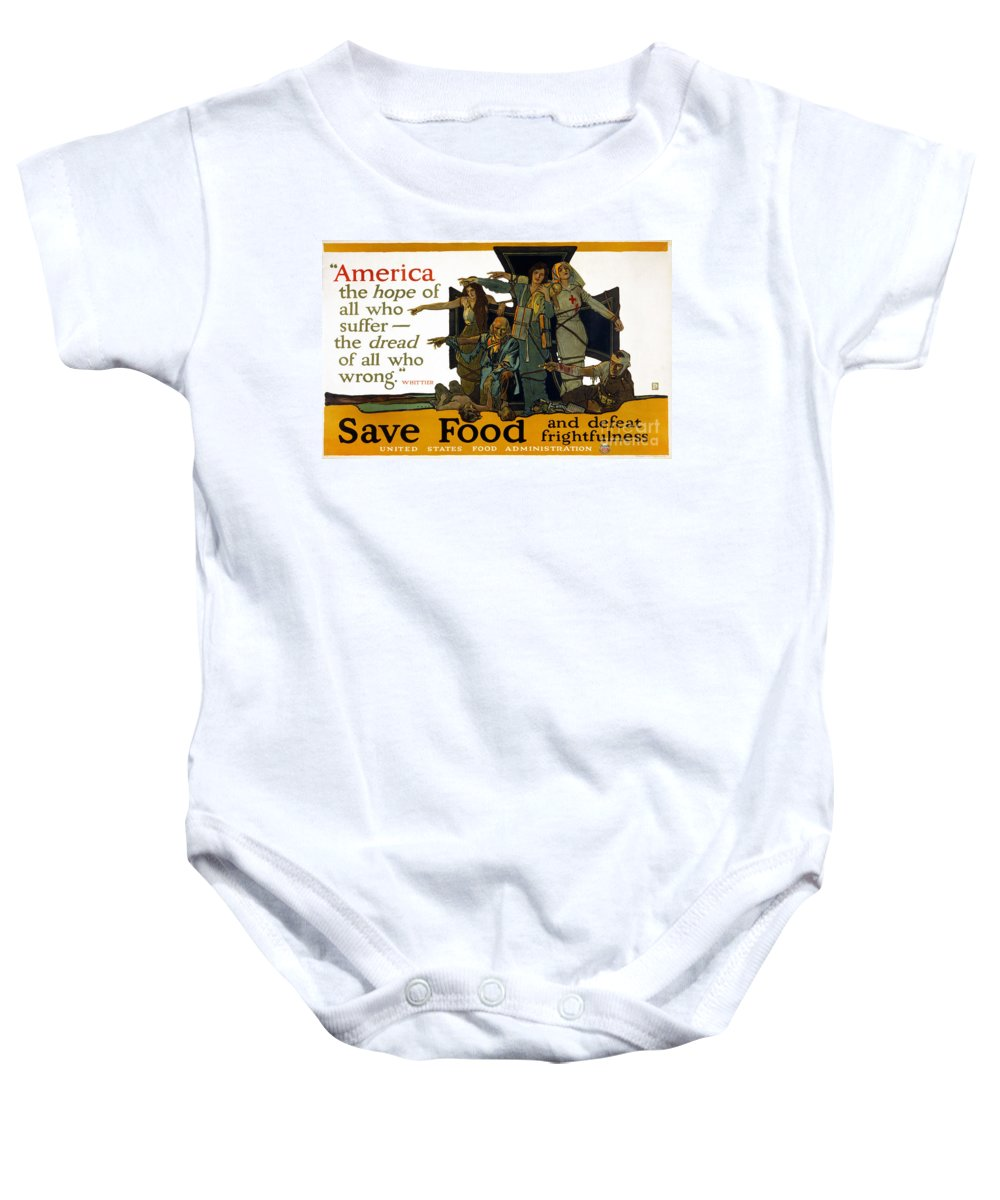 1917 Baby Onesie featuring the photograph Red Cross Poster, 1917 by Granger