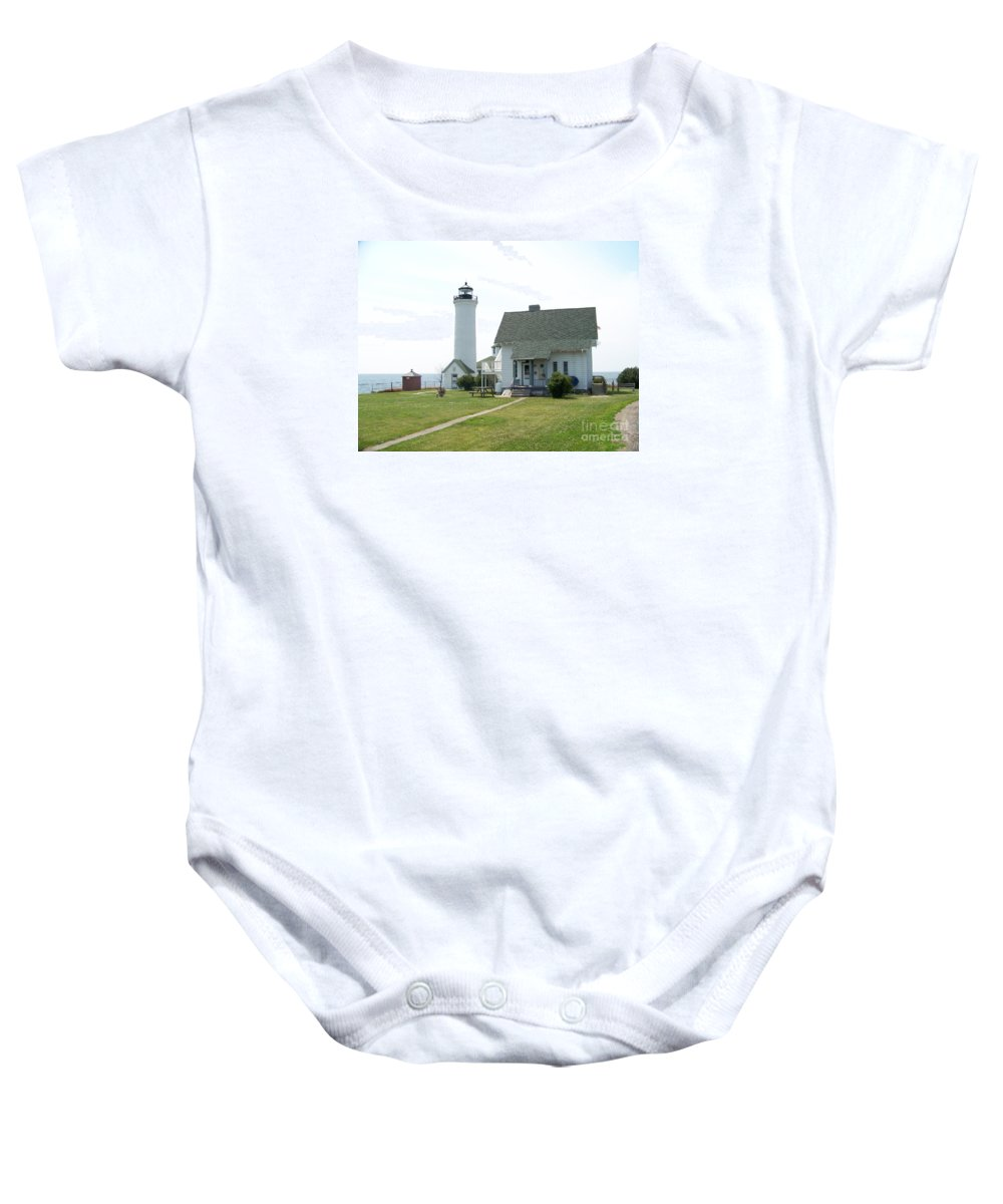 Tibbetts Point Light Baby Onesie featuring the photograph Tibbetts Point Light by Kevin Croitz