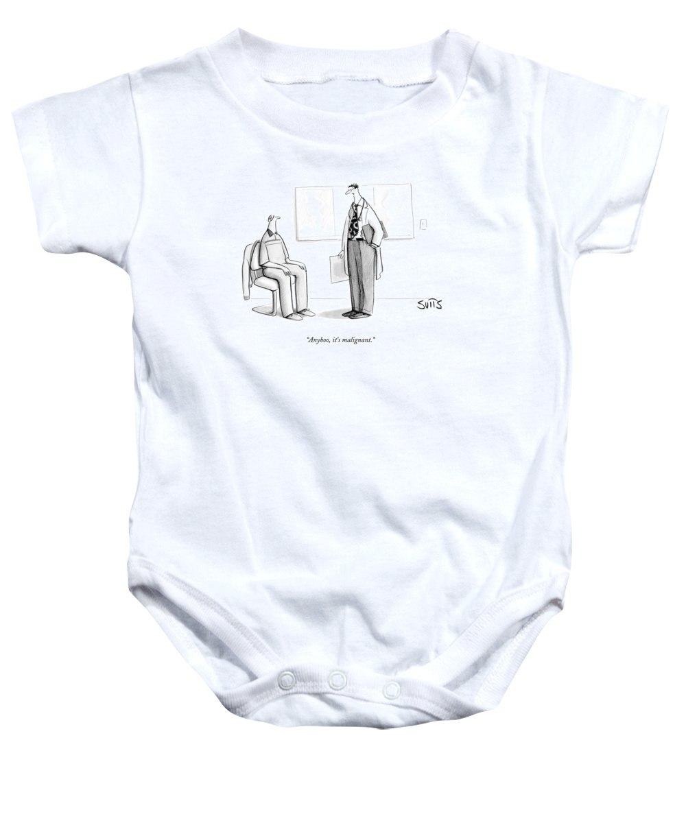 Doctor Baby Onesie featuring the drawing Anyhoo, It's Malignant by Julia Suits
