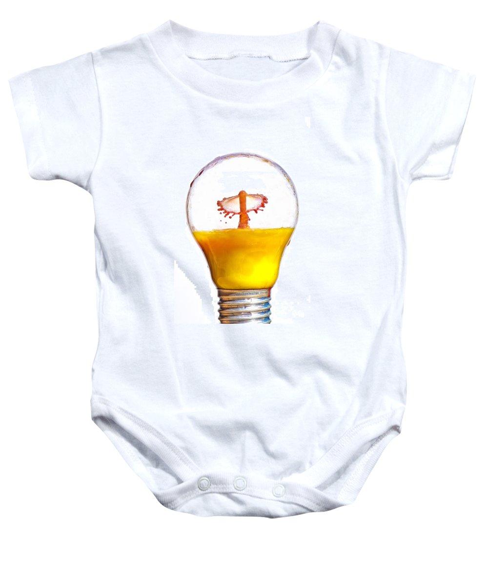 Creativity Baby Onesie featuring the photograph Liquid Coronet by Guy Viner