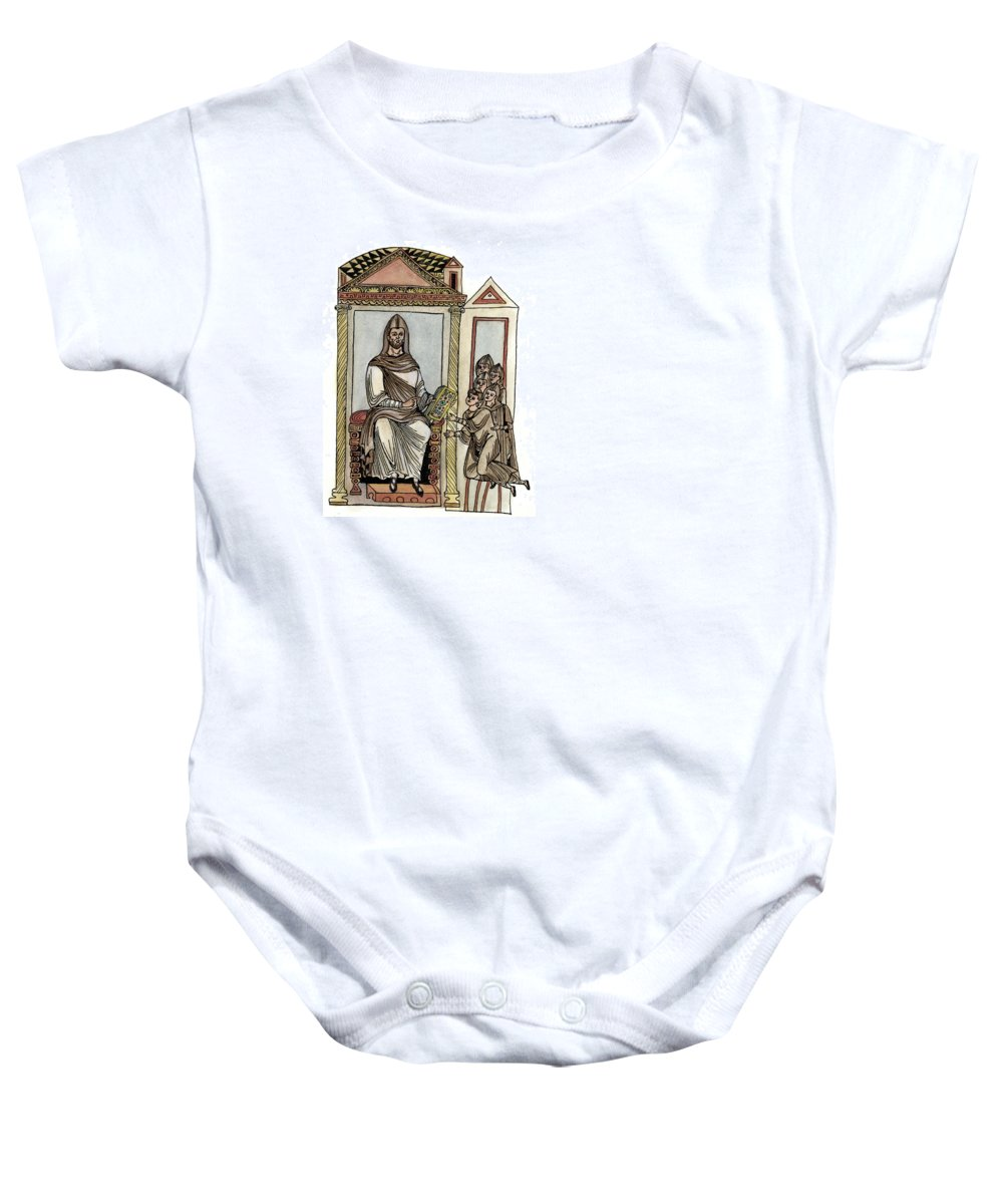 18th Amendment Baby Onesie featuring the photograph St Valentines Day Massacre by Granger