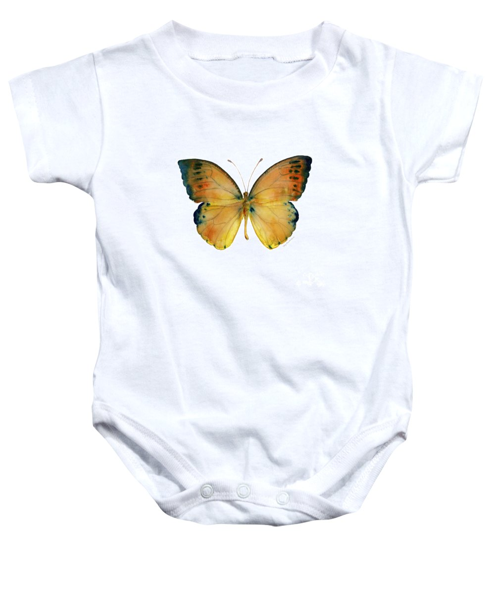 Leucippe Baby Onesie featuring the painting 53 Leucippe Detanii Butterfly by Amy Kirkpatrick