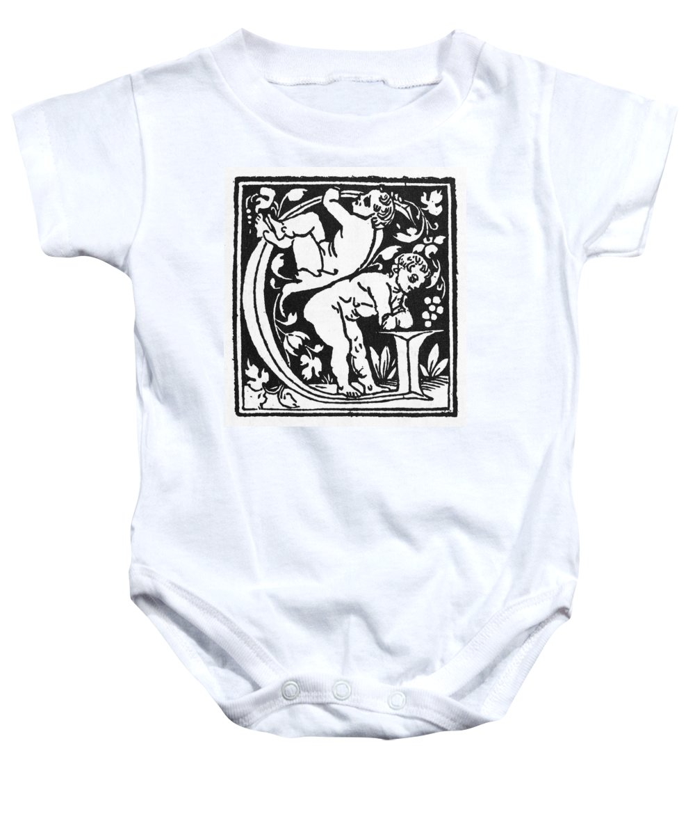 1500 Baby Onesie featuring the painting Decorative Initial G by Granger