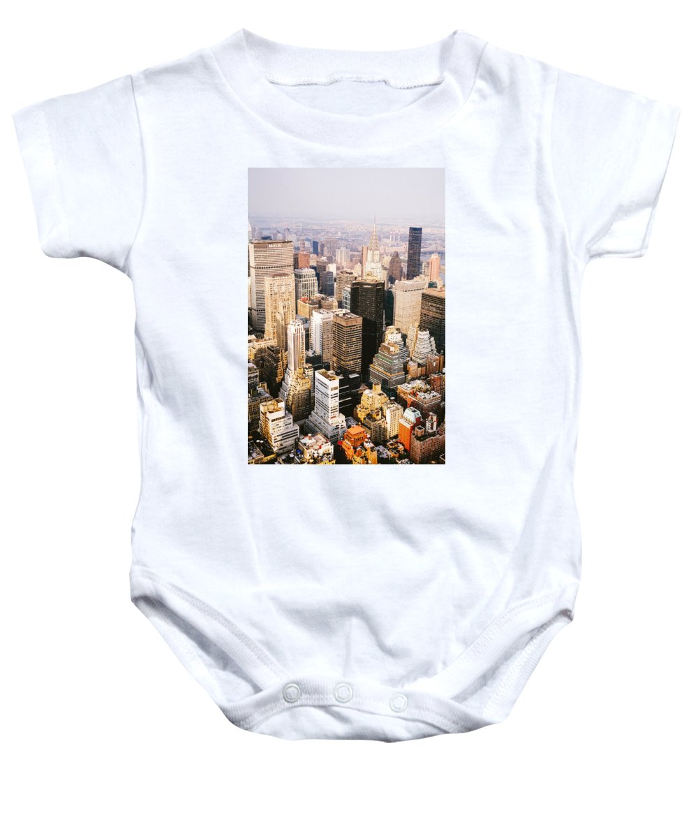 Nyc Baby Onesie featuring the photograph New York City by Vivienne Gucwa