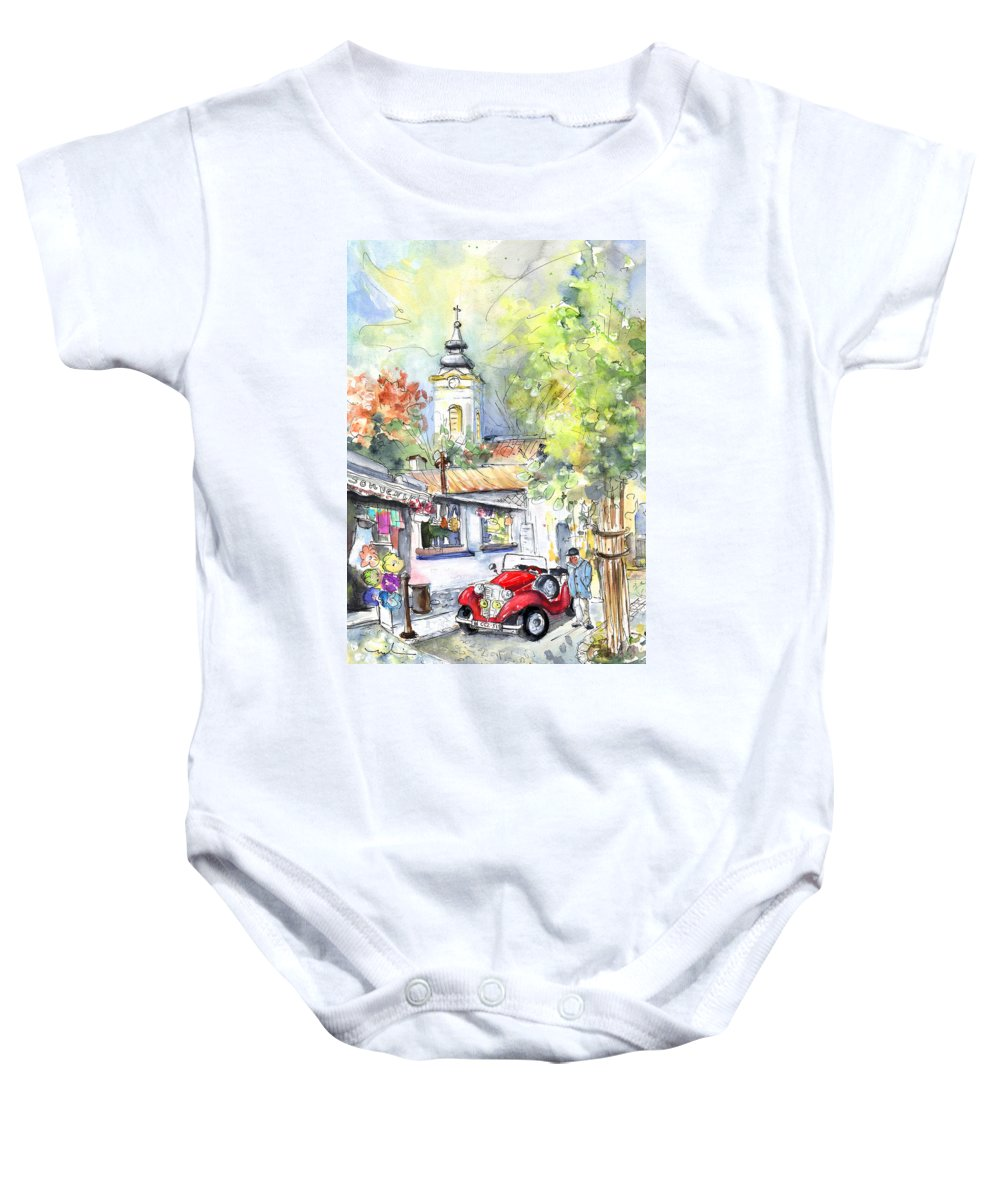 Travel Baby Onesie featuring the painting A Beautiful Car In Szentendre by Miki De Goodaboom