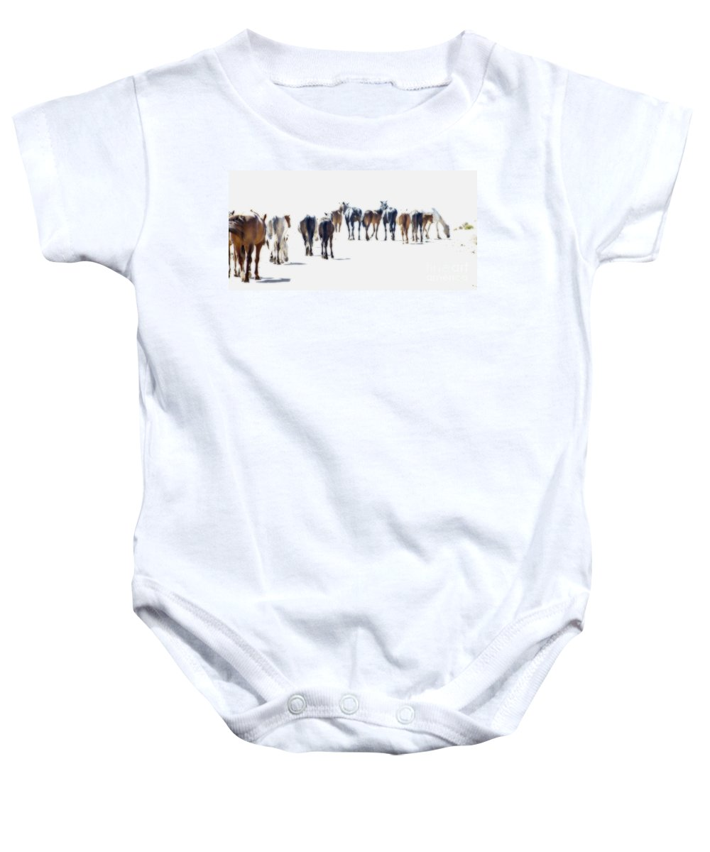 8c530a7780c3 A Herd Of Wild Horses On Navajo Indian Reservation Onesie for Sale ...