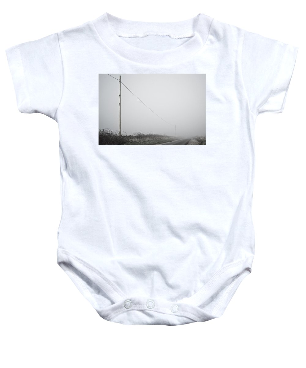 Uk Baby Onesie featuring the photograph A Long Stretch by Christopher Rees