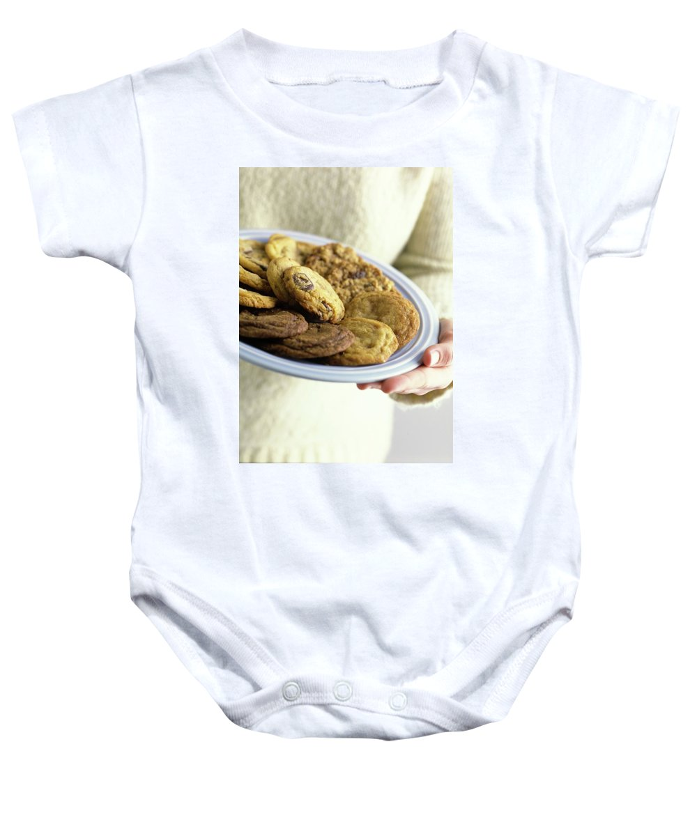 Cooking Baby Onesie featuring the photograph A Plate Of Cookies by Romulo Yanes