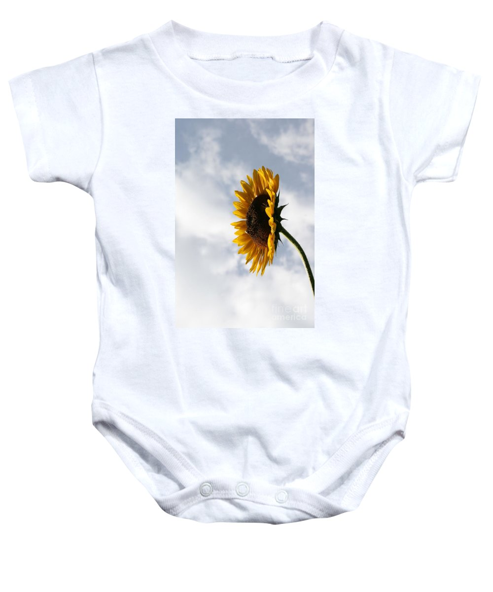 Yellow Sunflower Photography Baby Onesie featuring the photograph A Side Of Sunflower by Neal Eslinger