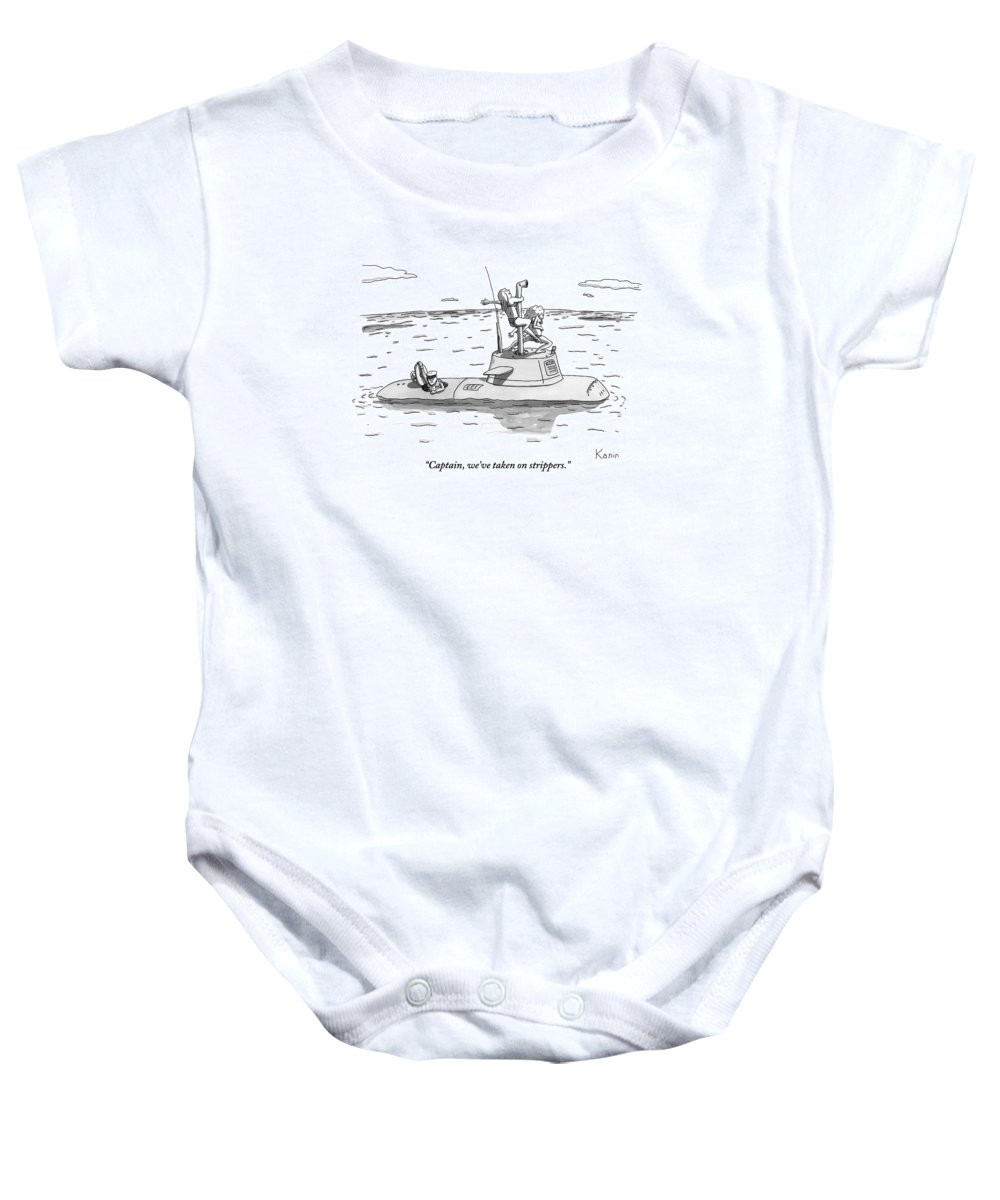 A Submarine Crewman Is Seen Speaking In Reference Baby Onesie