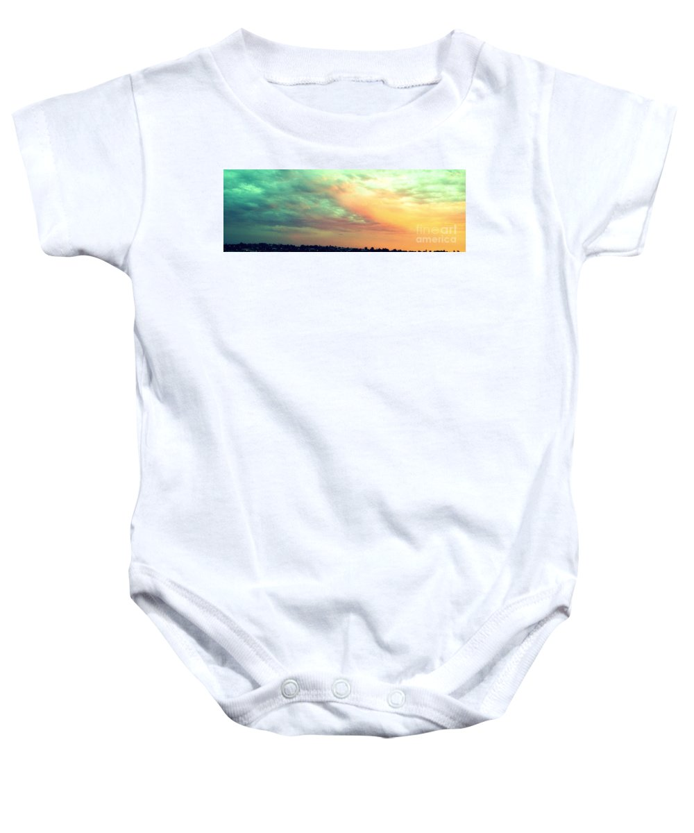 Sunset Baby Onesie featuring the photograph A Sunset by Roberto Gagliardi