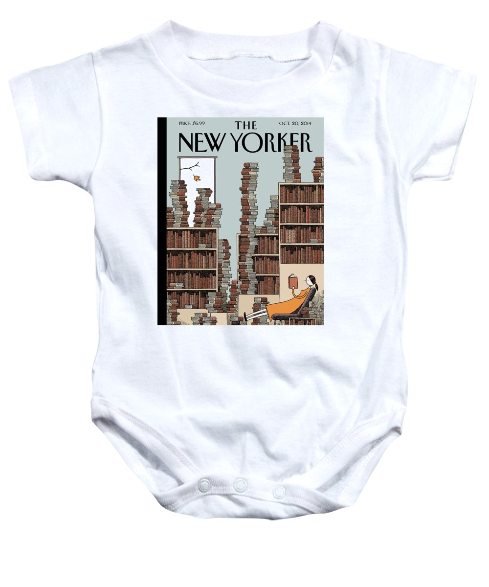 Books Baby Onesie featuring the painting Fall Library by Tom Gauld