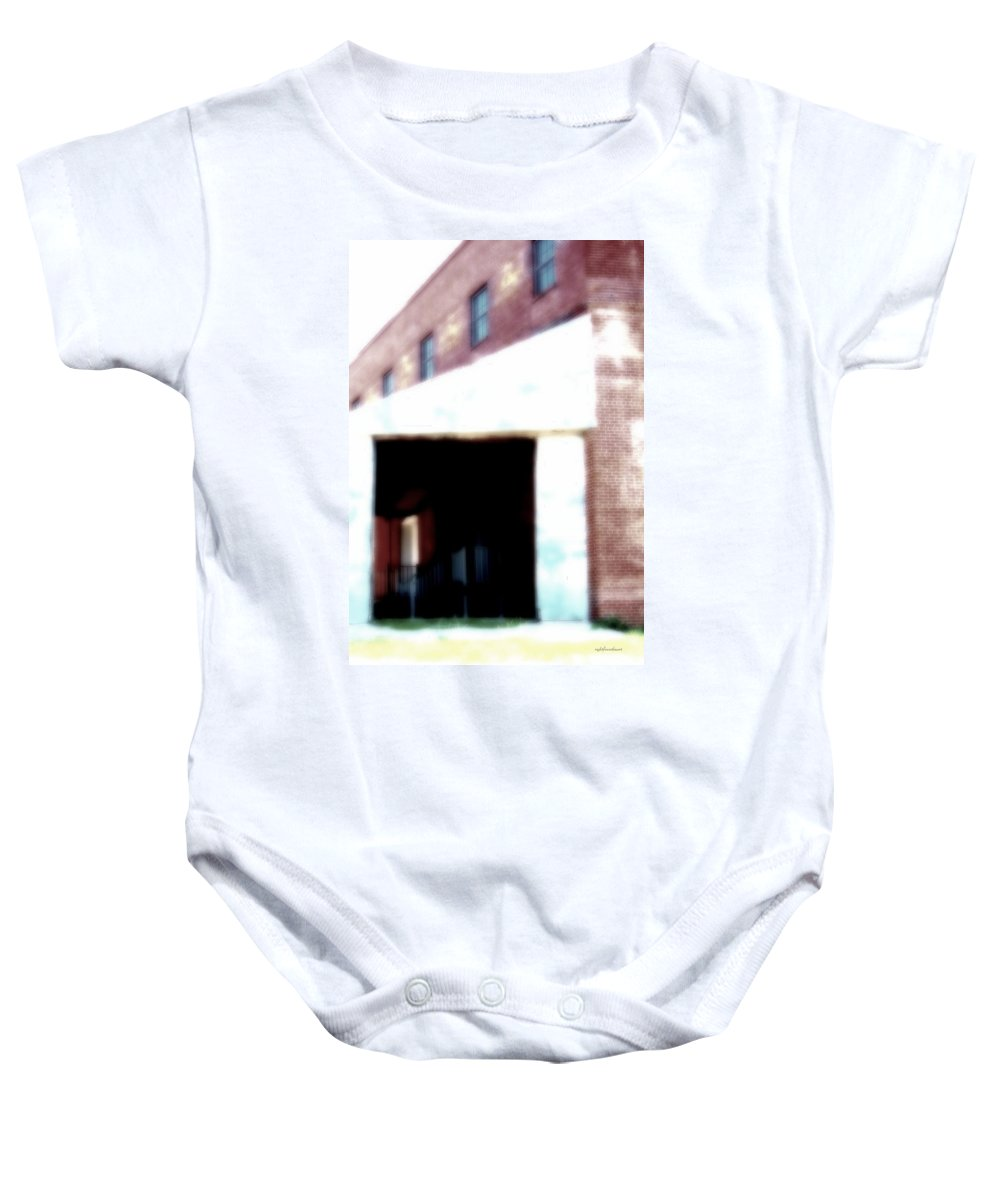Rightfromtheart Baby Onesie featuring the photograph Abandoned Places by Bob and Kathy Frank