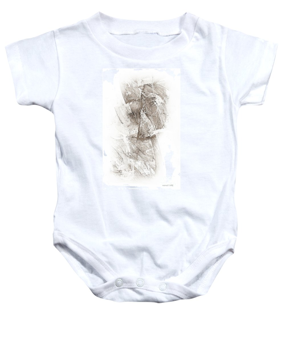 Abstract Baby Onesie featuring the digital art Abstract 400-08-13 Marucii by Marek Lutek