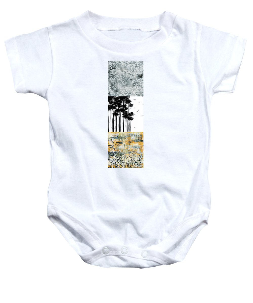 Painting Baby Onesie featuring the painting Abstract Art Original Landscape Pattern Painting By Megan Duncanson by Megan Duncanson
