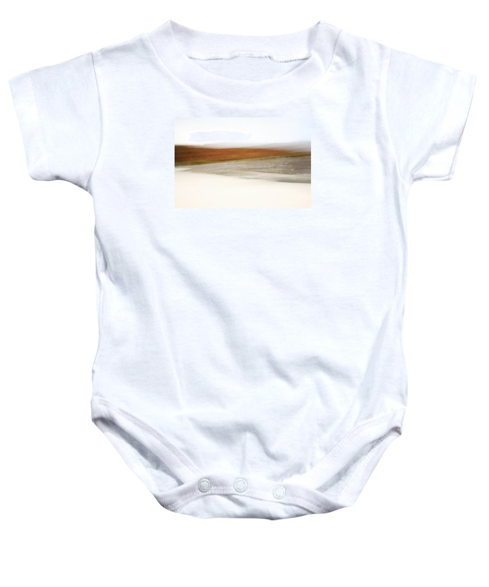 Abstract Baby Onesie featuring the photograph Abstract View Of Morar Bay by Deborah Benbrook