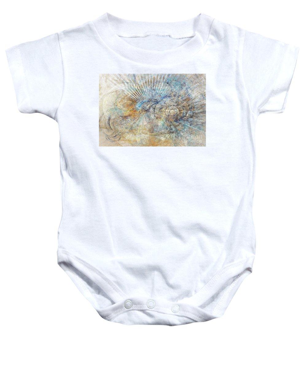 Abstract Baby Onesie featuring the digital art Abstraction 476-09-13 Marucii by Marek Lutek