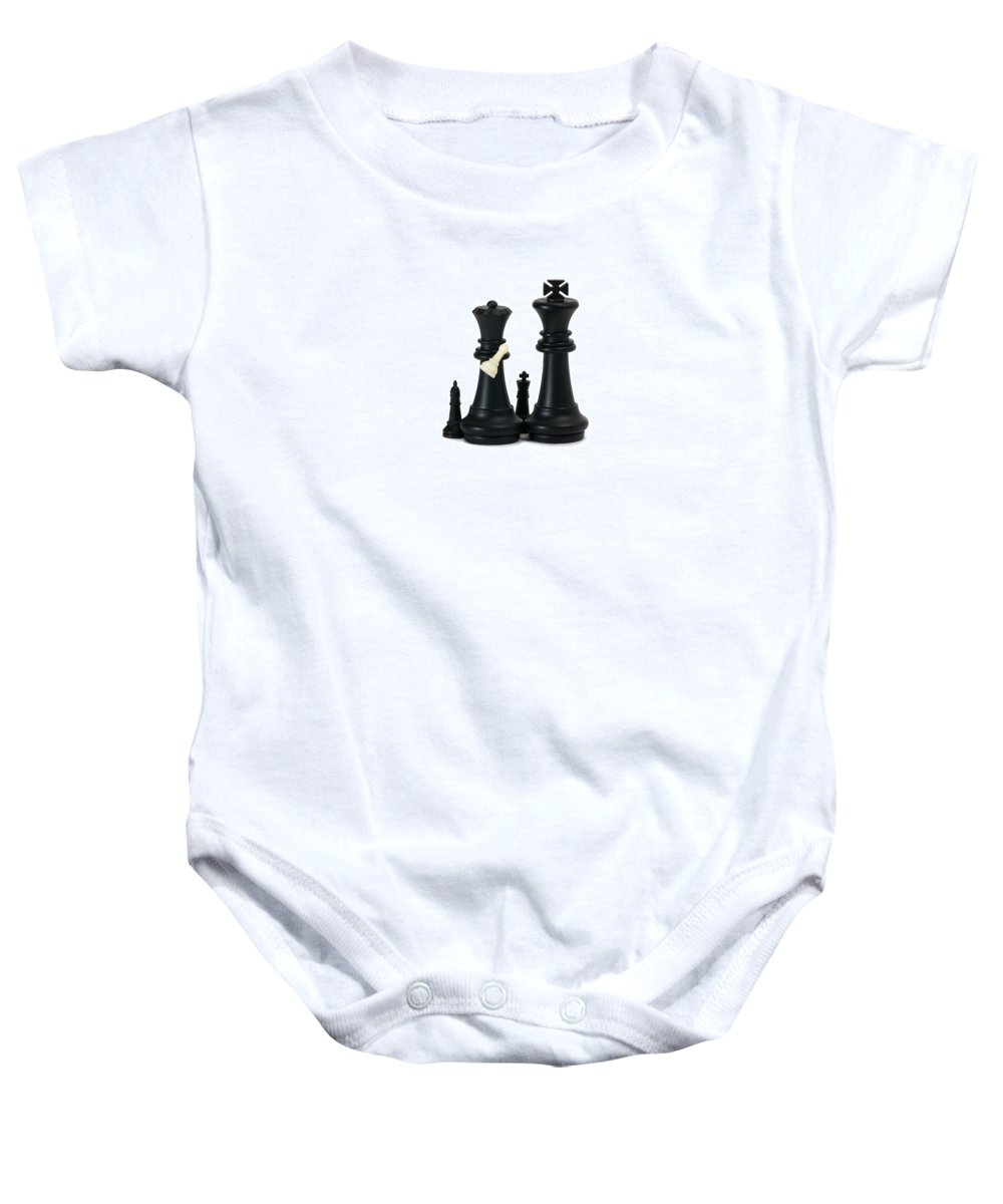 Chess Baby Onesie featuring the photograph Adoption - Featured 2 by Alexander Senin