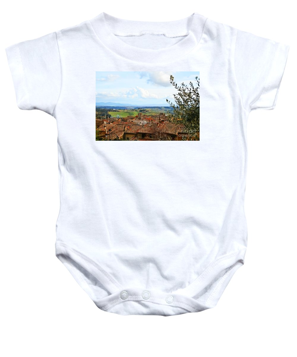 Travel Baby Onesie featuring the photograph Ahh Tuscany by Elvis Vaughn