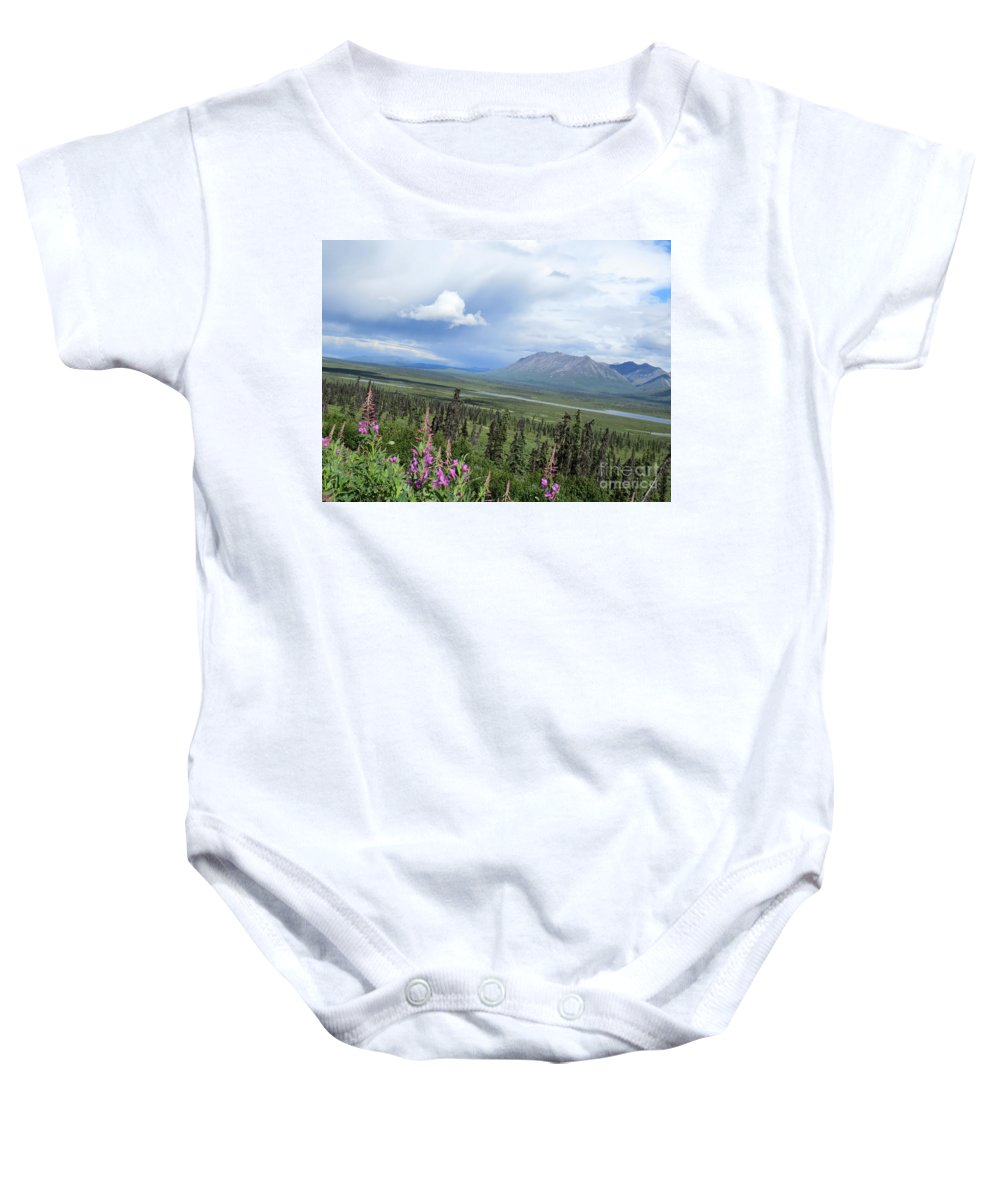 Mountain Baby Onesie featuring the photograph Alaska Through My Eyes by Stacey May