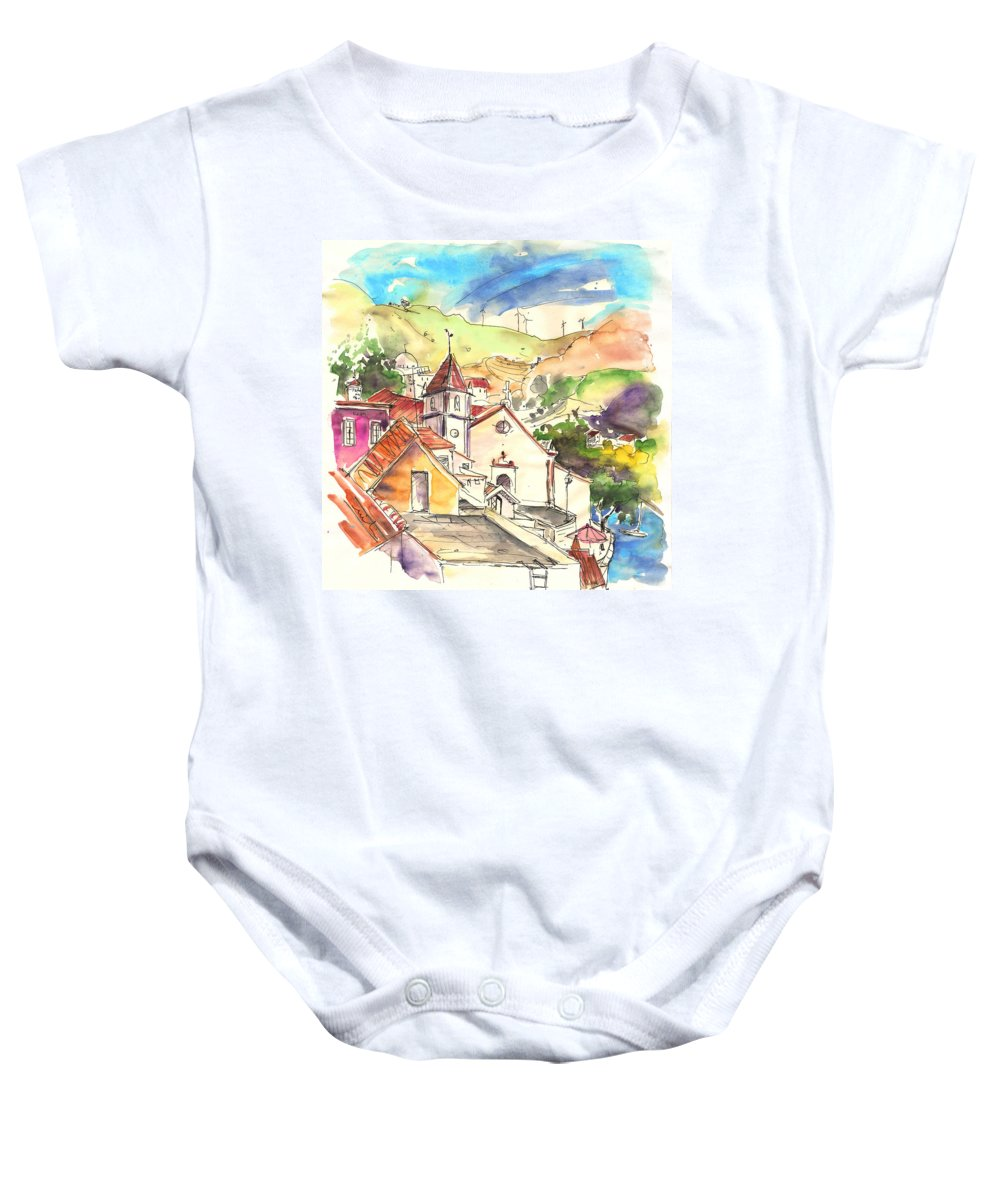 Portugal Baby Onesie featuring the painting Alcoutim In Portugal 07 by Miki De Goodaboom