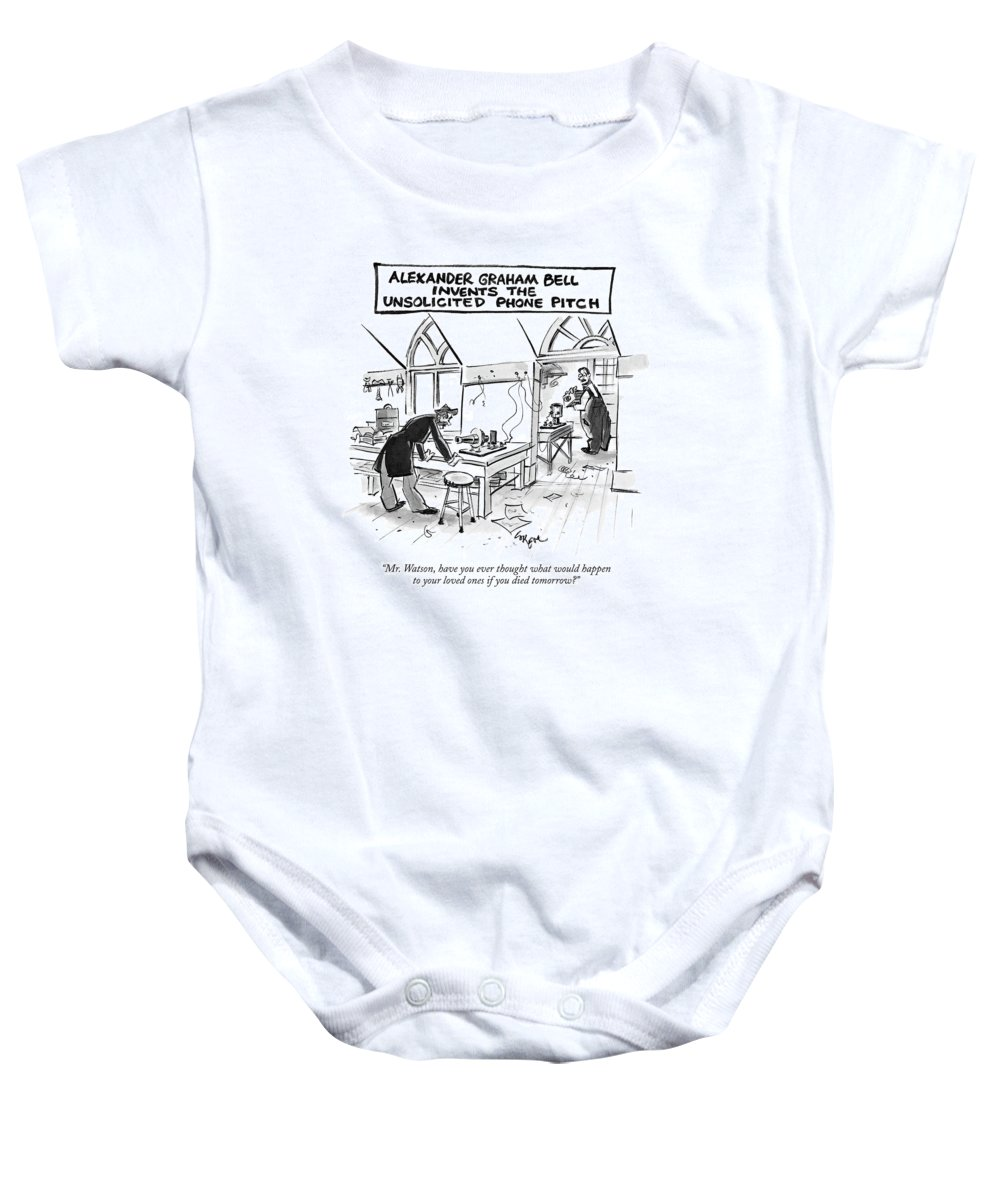 Alexander Graham Bell Invents The Unsolicited Onesie For Sale By Lee