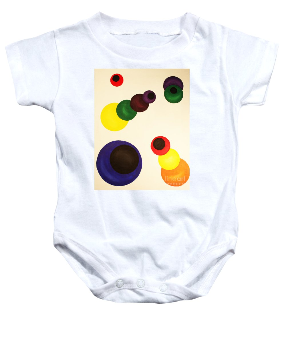 Aligning Strategy Baby Onesie featuring the painting Aligning Strategy by Christine Dekkers