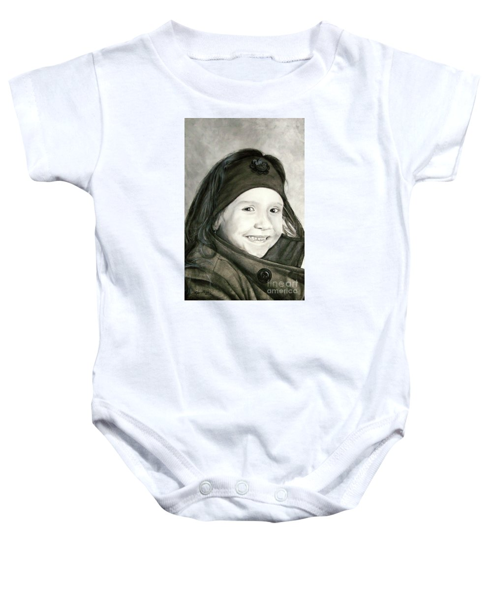 Smile Baby Onesie featuring the painting Allegro by J C Moreira