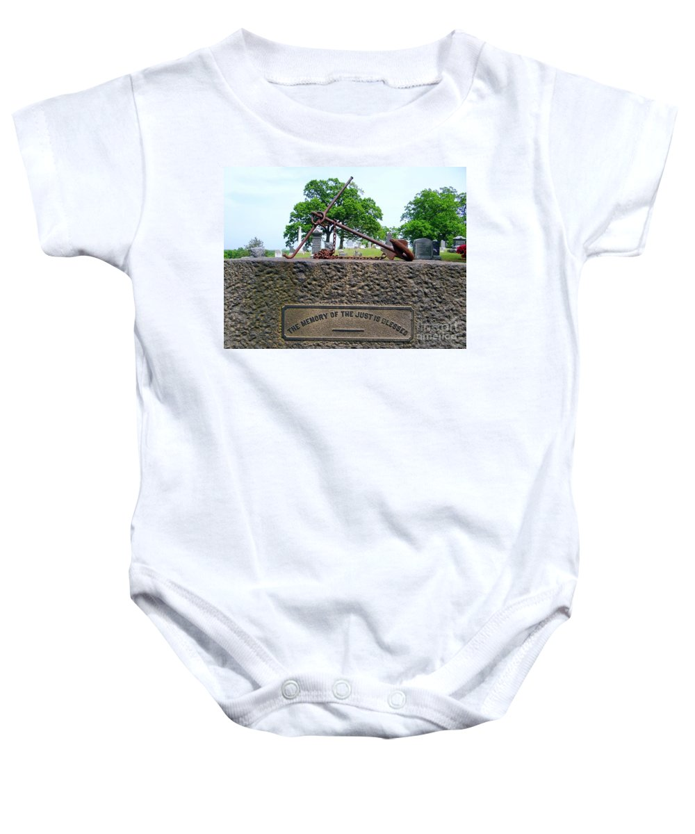 Anchor Baby Onesie featuring the photograph Anchored Down by Ed Weidman