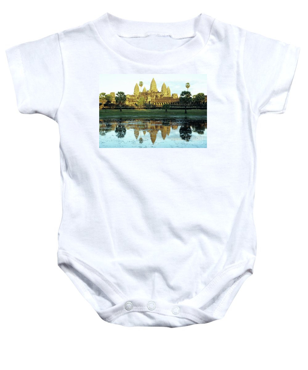 Angkor Baby Onesie featuring the photograph Angkor Wat Reflections 01 by Rick Piper Photography
