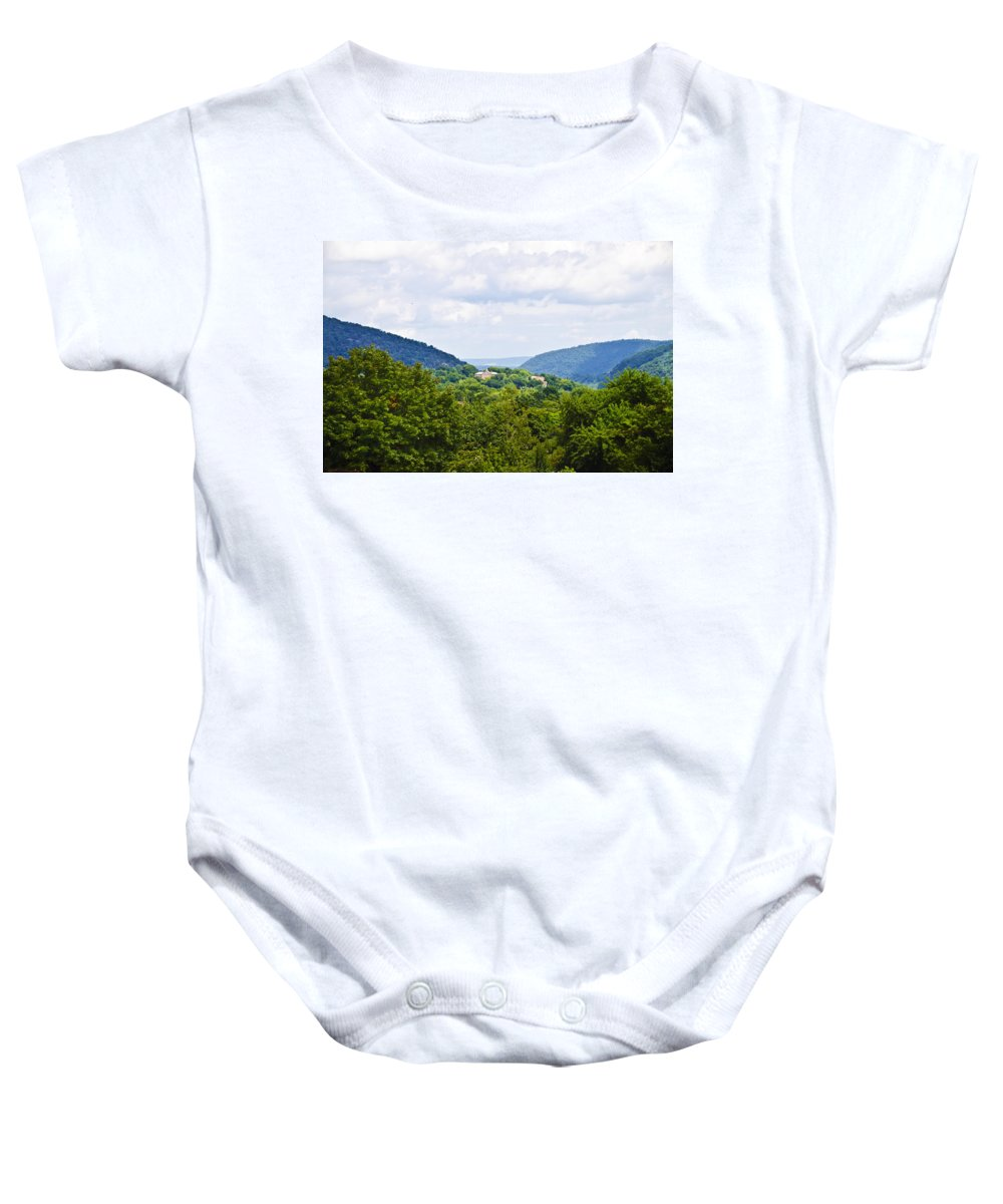Appalachian Baby Onesie featuring the photograph Appalachian Mountains West Virginia by Bill Cannon