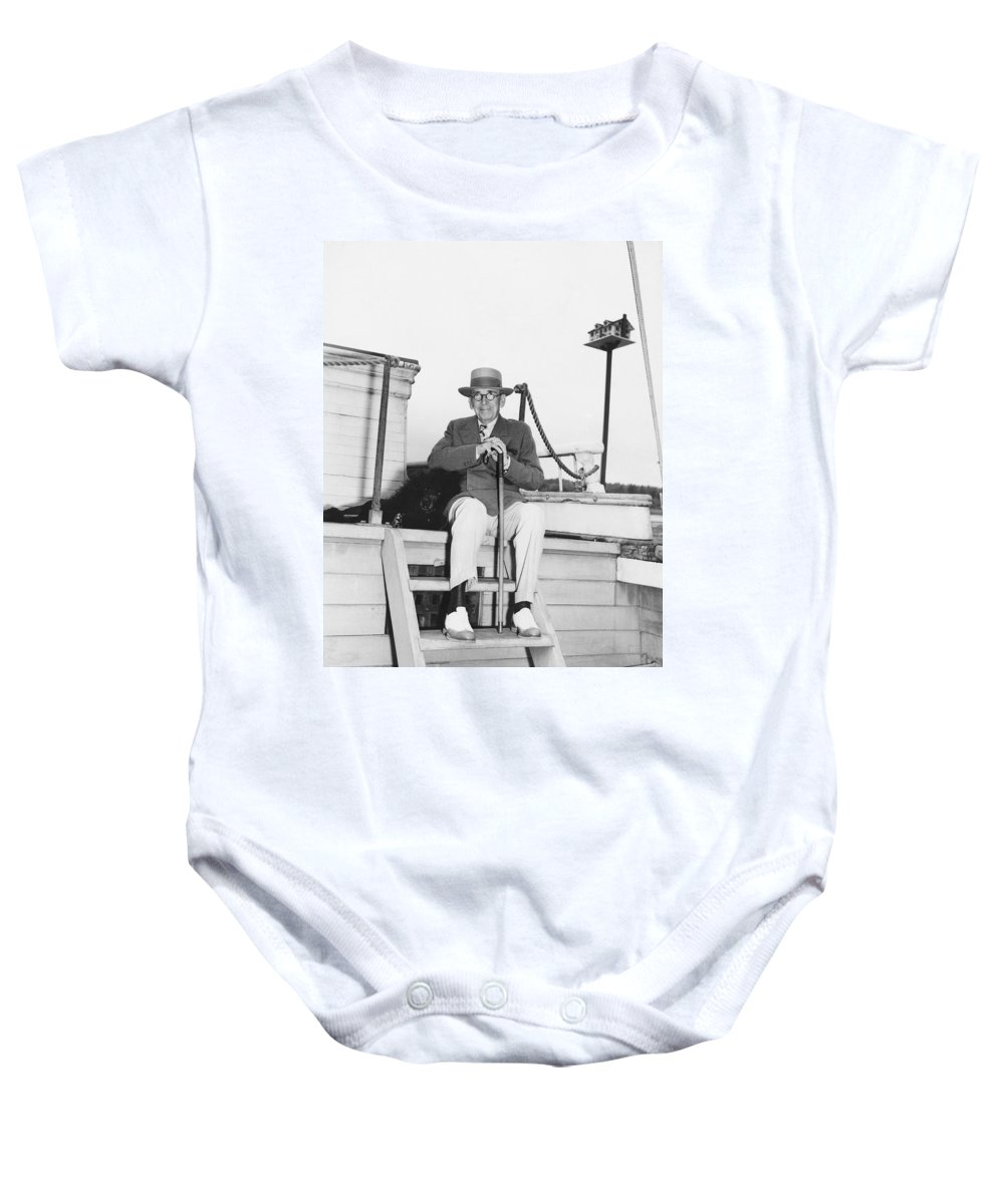 1939 Baby Onesie featuring the photograph Author Booth Tarkington by Underwood Archives