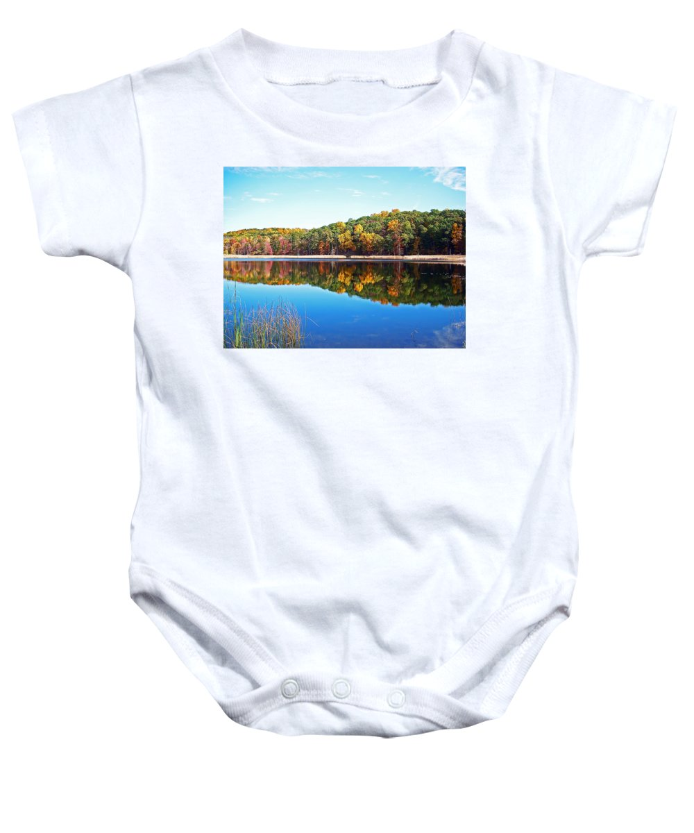 Autumn Baby Onesie featuring the photograph Autumn Reflection by Aimee L Maher ALM GALLERY