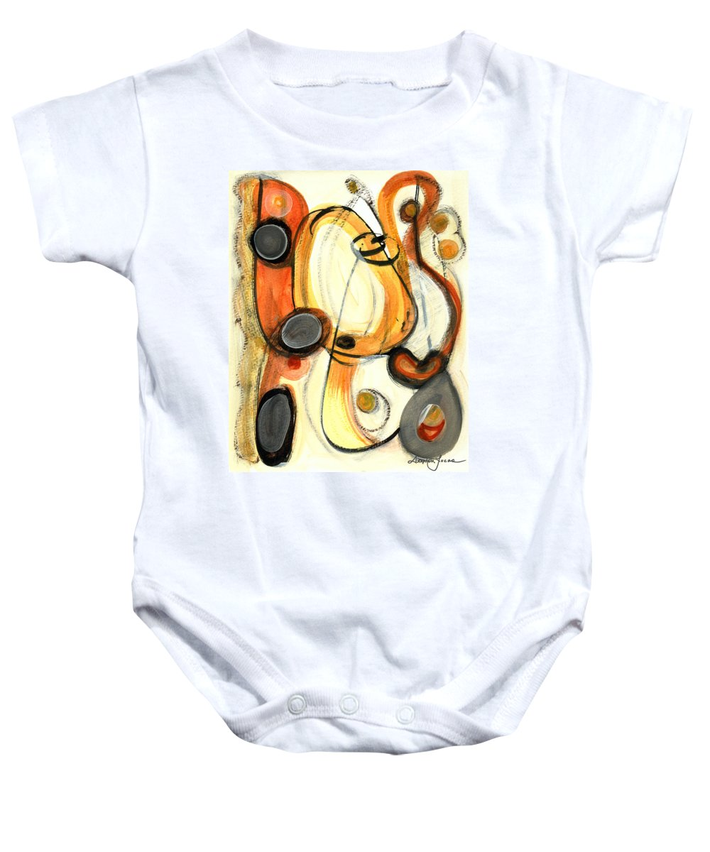 Abstract Art Baby Onesie featuring the painting Autumn Winds by Stephen Lucas