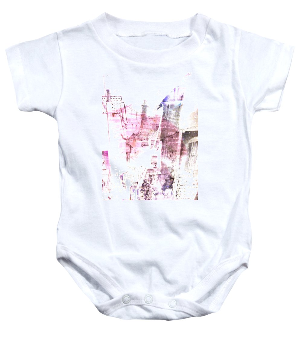 Abstract Baby Onesie featuring the photograph Back In Day by The Artist Project