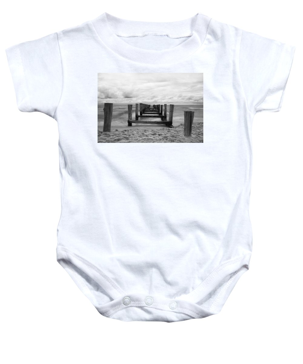 Ostsee Baby Onesie featuring the pyrography Baltic Sea by Steffen Gierok
