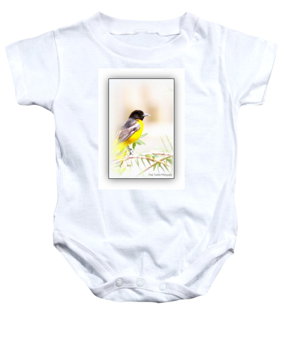 Baltimore Oriole Baby Onesie featuring the photograph Baltimore Oriole 4348-19 by Travis Truelove