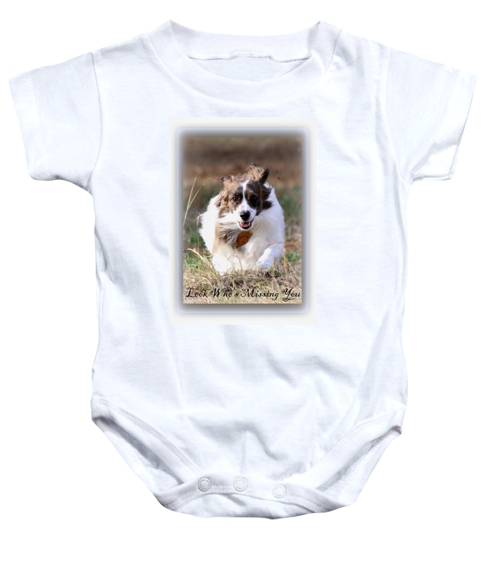 Nature Baby Onesie featuring the photograph Bama - Pets - Dogs by Travis Truelove