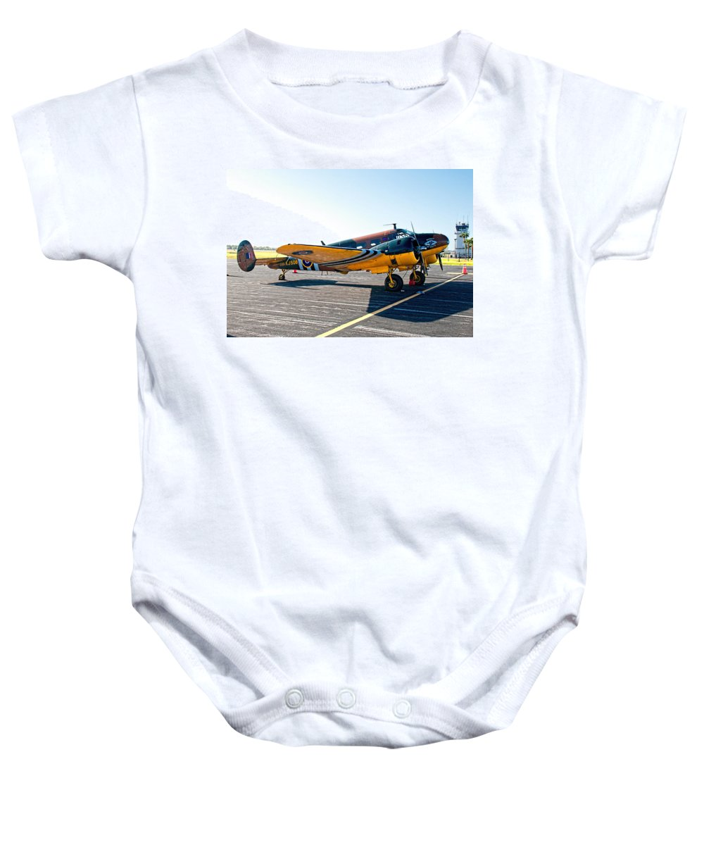 Baby Onesie featuring the photograph Beachcraft - Bucket-o-bolts by John Black
