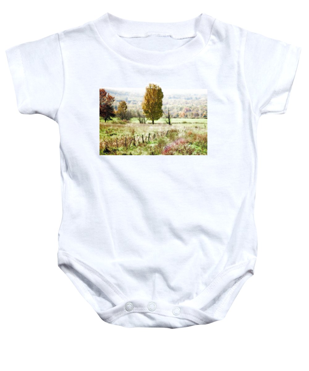 Beautiful Fall Landscape Baby Onesie featuring the photograph Beautiful Fall Landscape - Looks Like A Painting by James Scott Preston