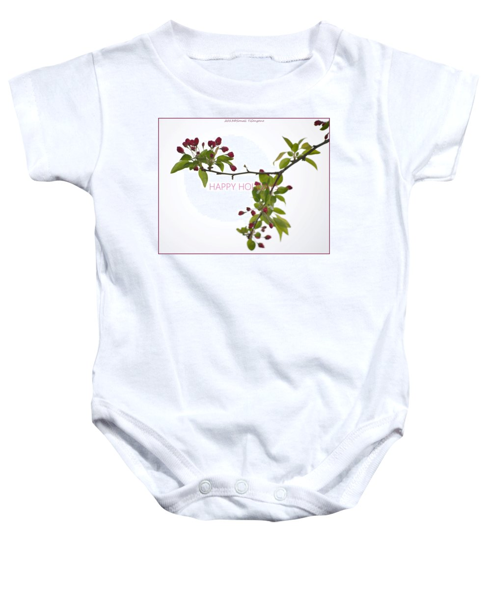 Posters Baby Onesie featuring the photograph Beautiful Floral Greetings by Sonali Gangane