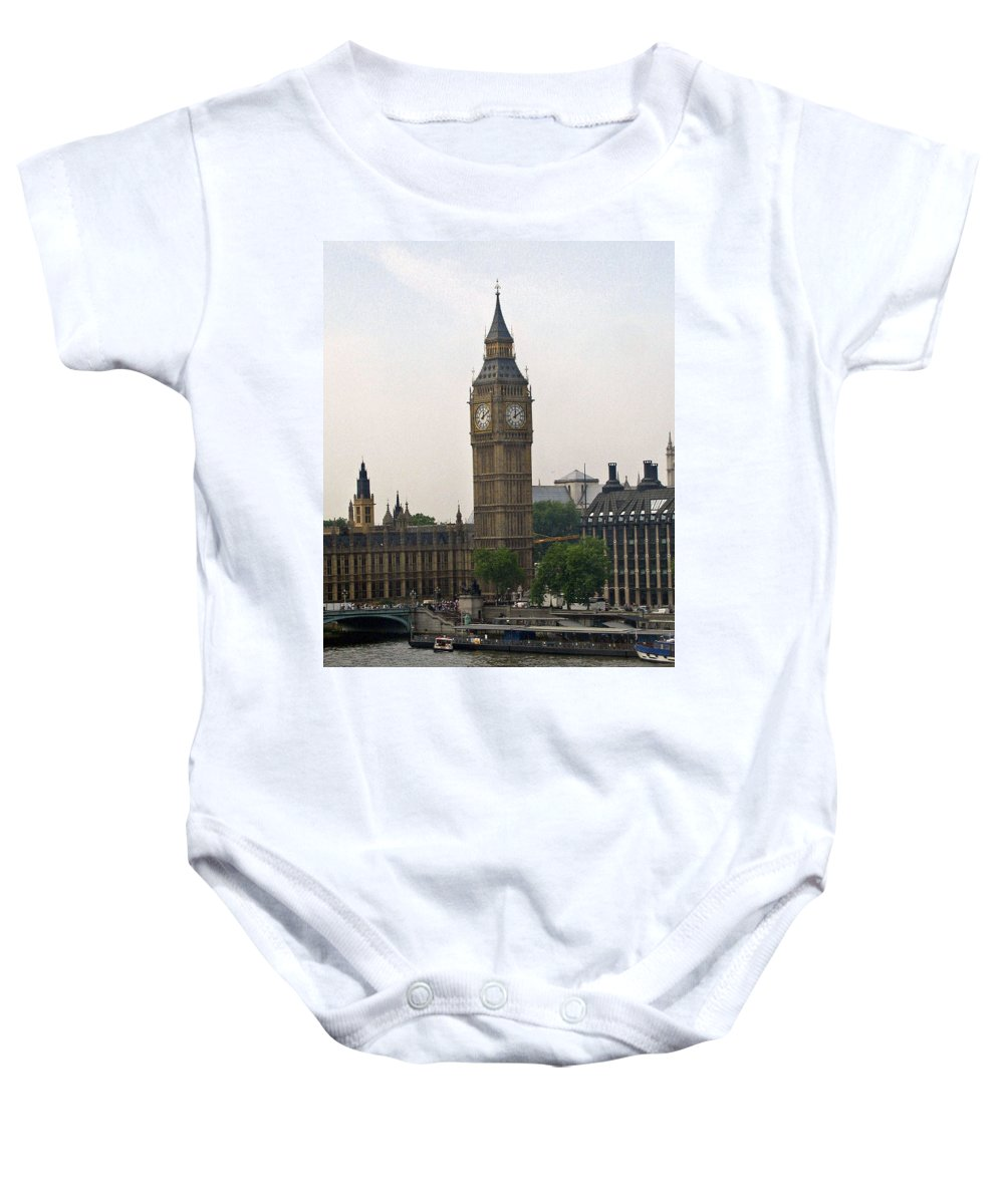 Travel Baby Onesie featuring the photograph Big Ben From The Eye by Jay Milo