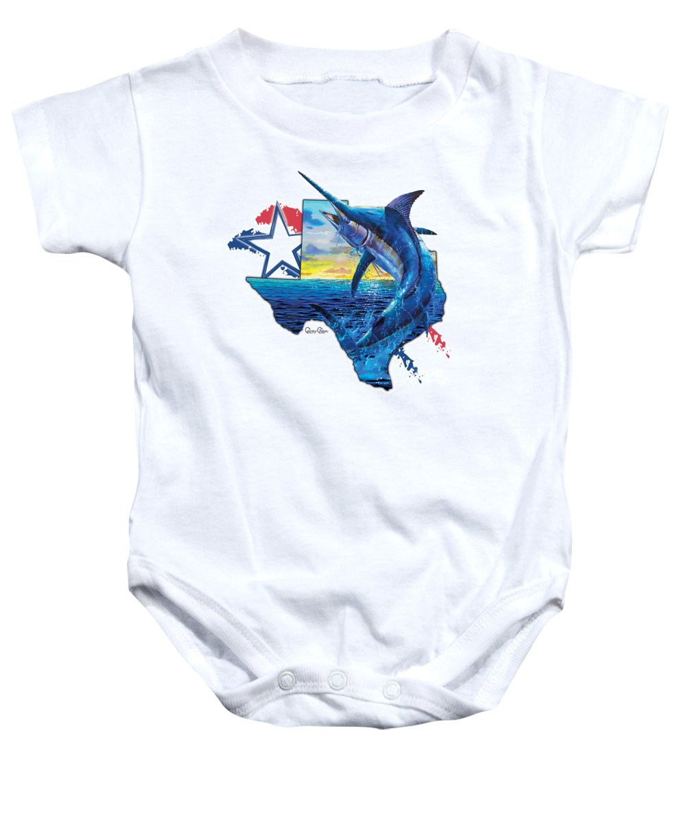 Texas Baby Onesie featuring the painting Bigger In Texas by Carey Chen